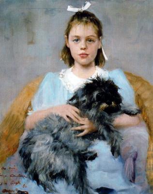 Каэтано де Аркер Буигас. Девочка с черной собакой