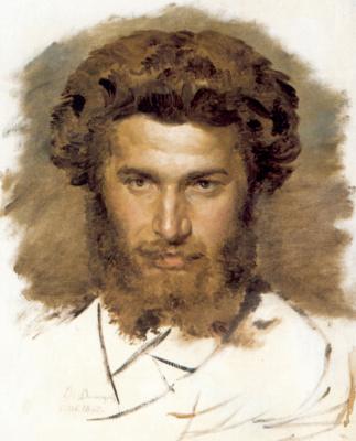 Victor Mikhailovich Vasnetsov. Portrait of the artist Arkhip Kuinji