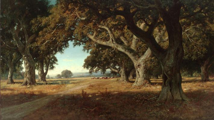 William Keith. California ranch