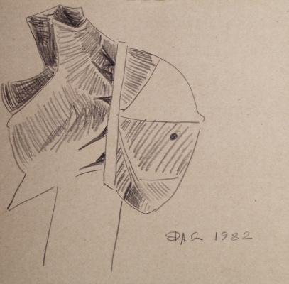 "Alexander Ocher Kandinsky-DAE. ""Twentieth Century!"" Sketch"