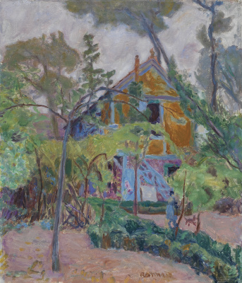Pierre Bonnard. The house among trees
