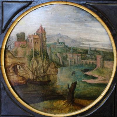 Питер Брейгель Младший. Замок на берегу реки