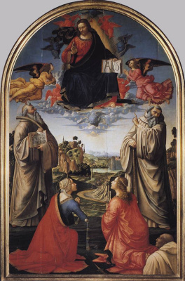 Доменико Гирландайо. Христос на небесах