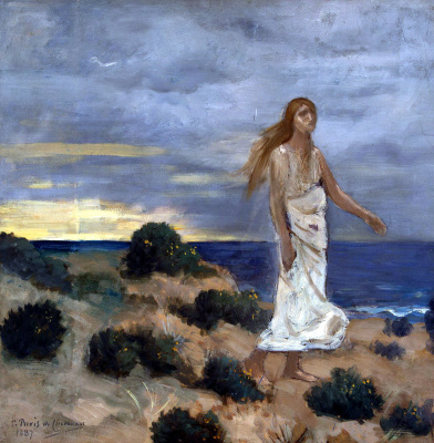 Pierre Cecil Puvi de Chavannes. Woman on the seashore