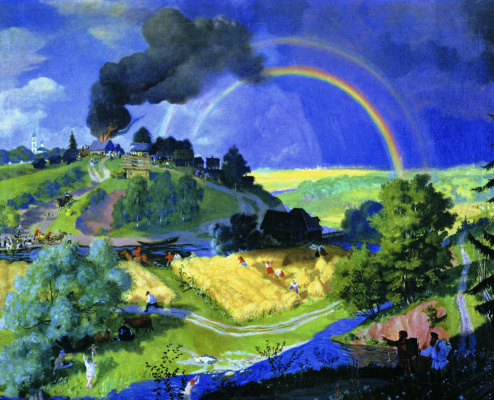 Boris Mikhailovich Kustodiev. After the storm