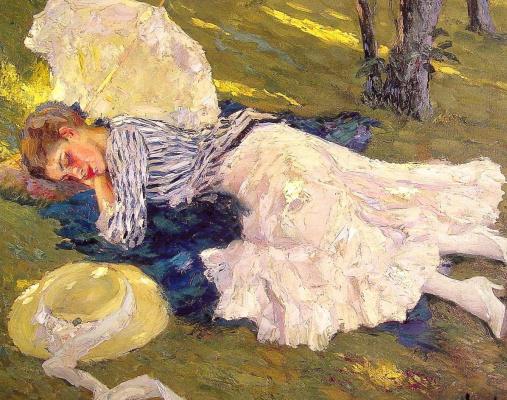 Edward Cucouel. Sleeping woman