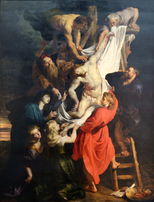The descent from the cross. The Central part of the triptych