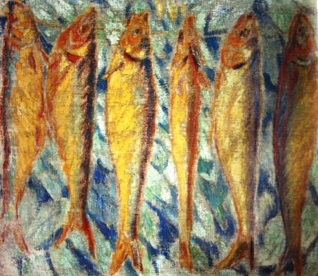 Михаил Федорович Ларионов. «Рыбы» 1907