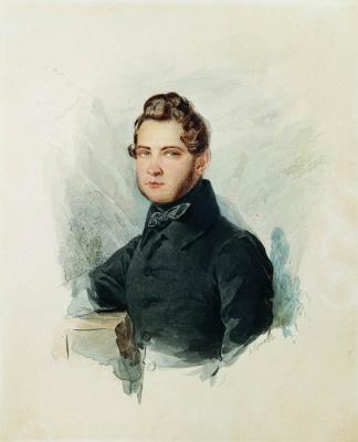 Alexander Pavlovich Bryullov. Portrait of D.S. Lvov. 1830s