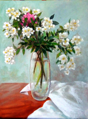 Marina Vladimirovna Patrikeeva. Sprigs of Blooming Jasmine