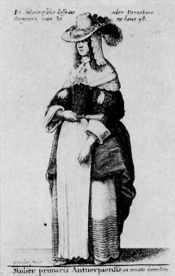 Венцель Холлар. Дама из Антверпена