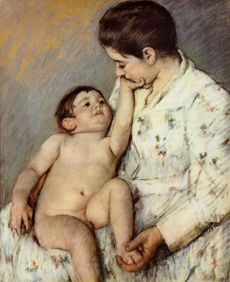 Mary Cassatt. The first weasel baby
