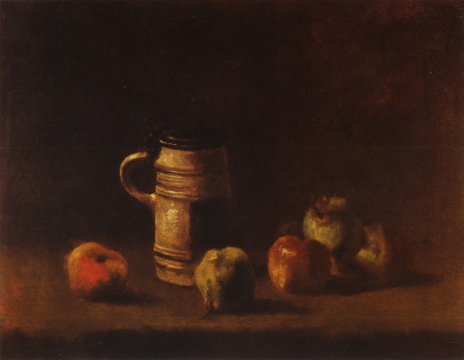 Vincent van Gogh. Still life with beer mug and fruit