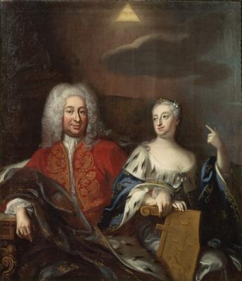 Король Фредрик I и королева Ульрика Элеонора