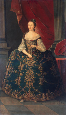 Мигел Антониу ду Амарал. Portrait of Maria Francisco, Princess of Brazil and Beiran