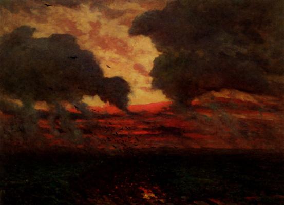 Жюль Бретон. Вороны в штормовой вечер