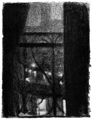Georges Seurat. The view through the railing of the balcony