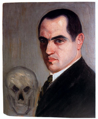 Вирхилио Бланко. Мужчина и череп