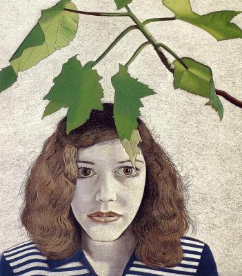 Люсьен Фрейд. Девушка с листьями