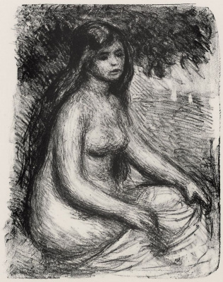 Pierre-Auguste Renoir. Bather