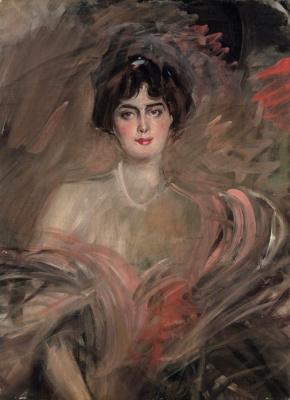 Джованни Больдини. Портрет мадмуазель Эмильены ле Рой. 1912