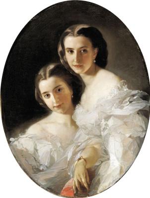 Ivan Kuzmich Makarov. Portrait of Olga and Varvara Arapov. 1879