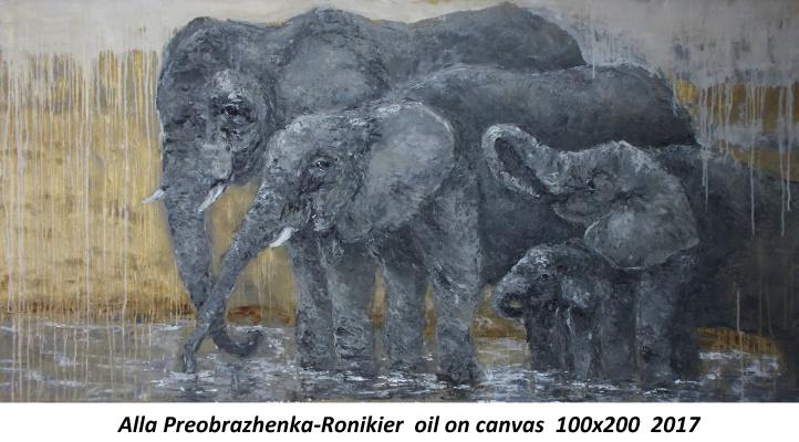 Alla Ronikier. Elephants