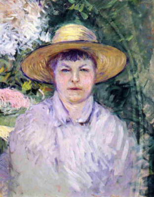 Gustave Caillebotte. Portrait of Madame Renoir
