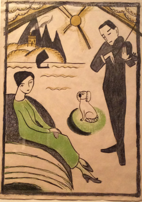 Gabriele Münter. Poster design for exhibition of Gabriele Munter in Copenhagen