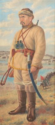 Abylkhan Kasteevich Kasteev. Portrait of Amangeldy