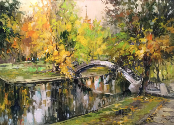 Anna Anatolyevna Charina. Autumn pond. Park Krasnaya Presnya