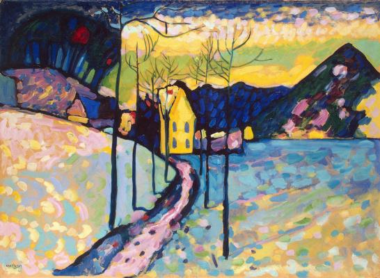 Wassily Kandinsky. Winter landscape