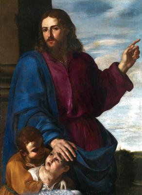 Artemisia Gentileschi. Christ blesses children