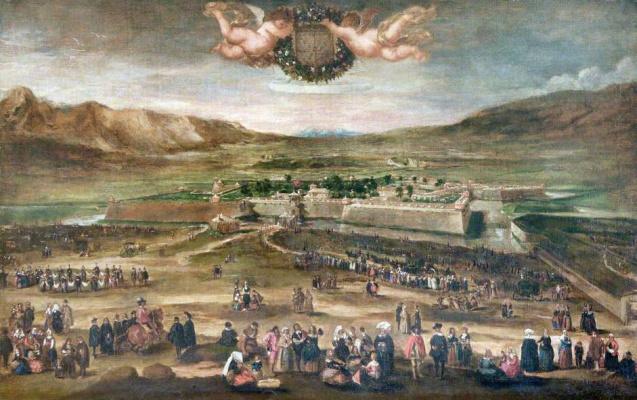 Juan Batista Martinez del Maso. Entry of the Duke Balthazar Carlos at Palmpton