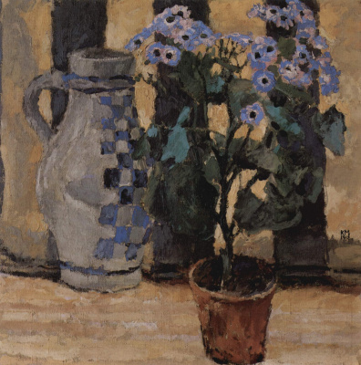 Koloman Moser. The flower pot and ceramic jug