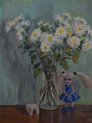 Ksenia Vitalievna Frolova. Still life with a doll