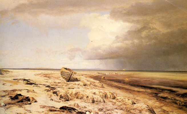 Янус Андреас Бартолин Ла Кур. Пустая лодка на пляже