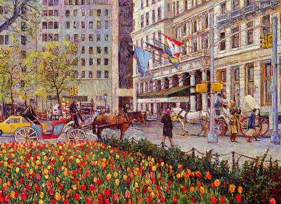 Кристиан Тайтл. Уличная сцена-Нью-Йорк