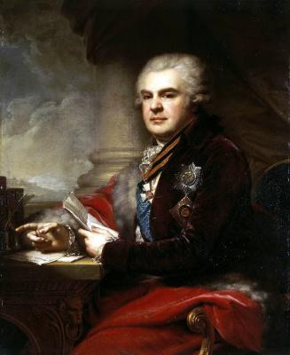 Иоганн Баптист Лампи (старший). Портрет Александра Самойлова