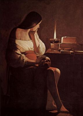 Georges de La Tour. Penitent Mary Magdalene