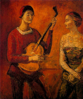 Arturo Souto. A man plays for girls