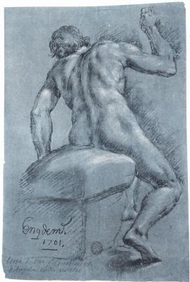 Хуан Кончиллос. Сидящий натурщик со спины
