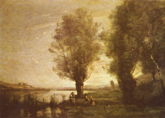 Camille Corot. Rest in flood meadows