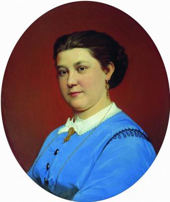 Sergey Konstantinovich Zaryanka. Female portrait Portrait of an unknown)