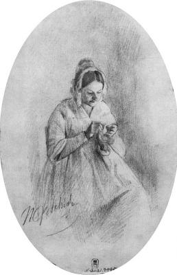 Павел Андреевич Федотов. Портрет М. И. Варнек