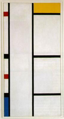 Piet Mondrian. Composition No. III White, yellow