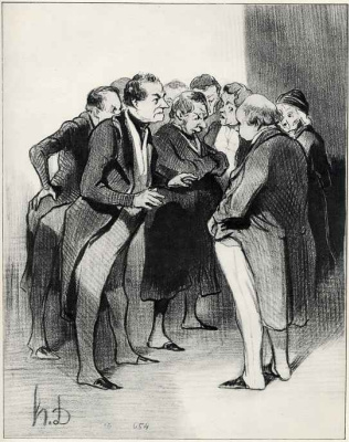 Honore Daumier. Gentlemen of the jury