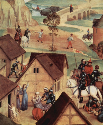 Hans Memling. Scenes from the Life of Mary, detail: massacre of the innocents