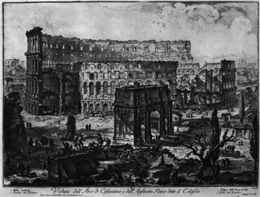 Вид Колизея с Аркой Константина
