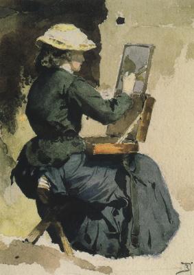 Portrait Of N. In. Yakunchikovoy (Polenova) etude